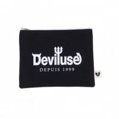 "Deviluse ポーチ ""LOGO PORCH"" (Black)"