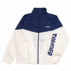 "THRASHER ジャケット ""MAG STAND FULL ZIP JACKET"" (Navy/White)"