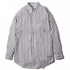 "Deviluse L/Sシャツ ""D. STRIPE SHIRTS"" (White)"