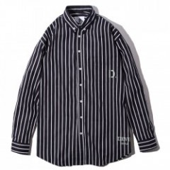 "Deviluse L/Sシャツ ""D. STRIPE SHIRTS"" (Navy)"