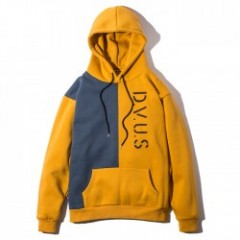 "Deviluse パーカ ""DIVISION PULLOVER HOODED"" (Mustard/Navy)"
