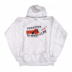 "★30%OFF★ THRASHER パーカー ""SCARRED"" (AshGray)"