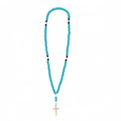 "ANIMALIA ネックレス ""WHITE HEART-Rosary"" (Blue)"