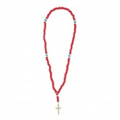 "ANIMALIA ネックレス ""WHITE HEART-Rosary"" (Red)"