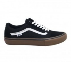 "VANS ""OLD SKOOL PRO"" (Black/White/Medium Gum)"