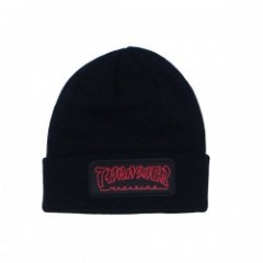 "THRASHER ビーニー ""CHINA BANKS PATCH BEANIE"" (Black)"