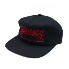 "THRASHER キャップ ""CHINA BANKS SNAPBACK CAP"" (Black)"