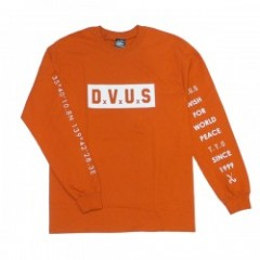 "Deviluse L/STシャツ ""BOX DVUS L/S TEE"" (Dark Orange)"