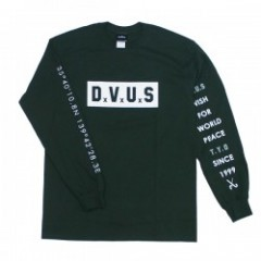 "Deviluse L/STシャツ ""BOX DVUS L/S TEE"" (Dark Green)"