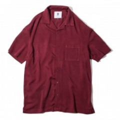 "Deviluse S/Sシャツ ""OPEN COLLAR SHIRTS"" (Wine Red)"