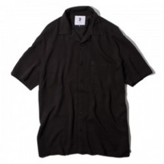 "Deviluse S/Sシャツ ""OPEN COLLAR SHIRTS"" (Black)"
