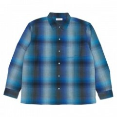 "RADIALL ""SHOE BOX OPEN COLLARED SHIRT"" (Blue)"