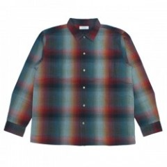 "RADIALL ""SHOE BOX OPEN COLLARED SHIRT"" (Green)"