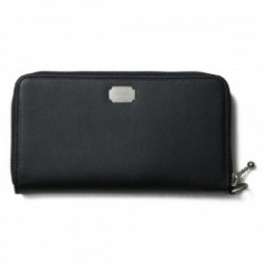"CRIMIE ウォレット ""LEATHER ZIP WALLET"" (Black)"