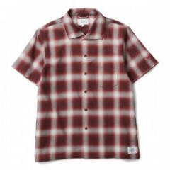 "★30%OFF★ CRIMIE ""ITALIAN COLLAR CHECK S/S SHIRT"" (Red)"