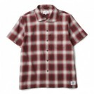 "★40%OFF★ CRIMIE ""ITALIAN COLLAR CHECK S/S SHIRT"" (Red)"