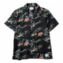 "CRIMIE S/Sシャツ ""CR ALOHA SHORT SLEEVE SHIRT"" (Black"