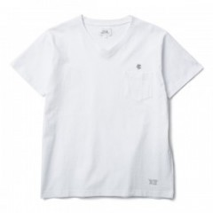 "CRIMIE Tシャツ ""CR NEEDLE WORK V NECK POCKET TEE"" Wht"