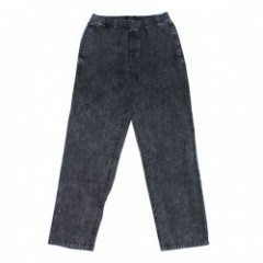 "BRIXTON パンツ ""STEADY ELASTIC WAISTBAND PANT"" (Black Acid Wash)"