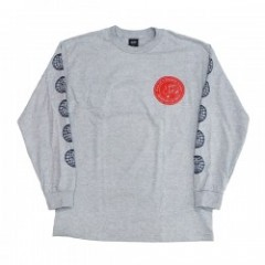 "OBEY L/STシャツ ""FEAR OF A HACKET PLANET L/S TEE"" Gra"