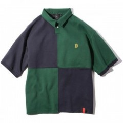 "Deviluse ポロシャツ ""RUGGER POLO"" (Green/Navy)"
