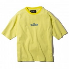 "Deviluse Tシャツ ""LOGO EMBROIDERED BIG TEE"" (Ice Yellow)"