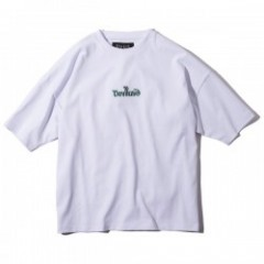 "Deviluse Tシャツ ""LOGO EMBROIDERED BIG TEE"" (White)"