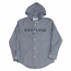 "Deviluse フードシャツ ""HOODED SHIRTS"" (Gray)"