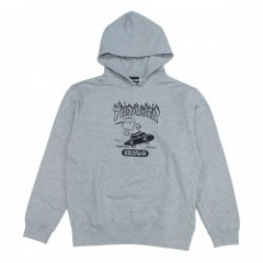 "★30%OFF★ THRASHER×PEANUTS コラボパーカ ""THR17PNV3-03DS"" (Gray)"
