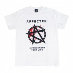 "AFFECTER Tシャツ ""STAND TEE"" (White)"