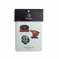 "BRIXTON ピンズセット ""ADIOS PIN PACK"""