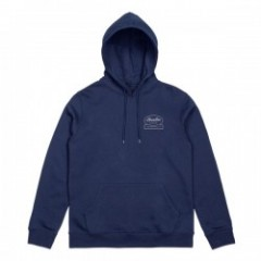 "BRIXTON パーカ ""DALE HOOD FLEECE"" (Light Navy)"