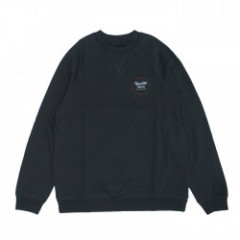 "BRIXTON クルースウェット ""WHEELER CREW"" (Washed Black/Red)"