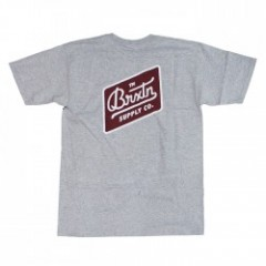 "BRIXTON Tシャツ ""BEDFORD S/S STND TEE"" (Heather Gray)"