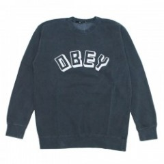 "OBEY クルースウェット ""OBEY NEW WORLD CREW SWEAT"" (D.Blk)"