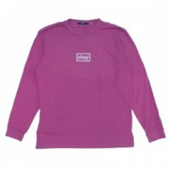 "OBEY L/STシャツ ""OBEY TYPEWRITTER L/S TEE"" (D.Magenta"