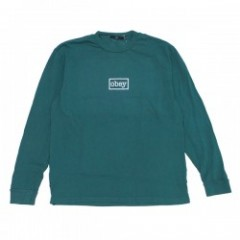 "OBEY L/STシャツ ""OBEY TYPEWRITTER L/S TEE"" (D.Teal)"