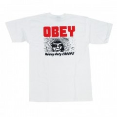 "OBEY Tシャツ ""HEAVY DUTY CREEPS TEE"" (White)"