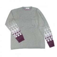 "RADIALL セーター ""CHEVY FLAMES SWEATER L/S"" (H.Gray)"