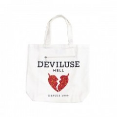 "Deviluse トートバッグ ""BRING HEART TOTEBAG"" (White)"