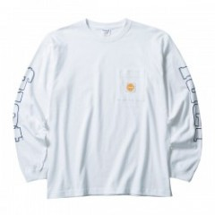 "FUCT SSDD L/S Tシャツ ""SLEEVE PRINT L/S TEE"" (White)"