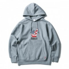 "FUCT SSDD パーカ ""HORNED HAND PULLOVER HOODIE"" (Gray)"