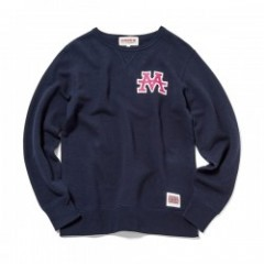 "ANIMALIA クルースウェット ""AMA CLUB-SWEAT SHIRTS"" (Navy)"