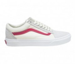 "VANS ""OLD SKOOL"" (Vintage White/Rococco Red)"