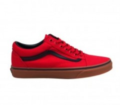 "VANS ""OLD SKOOL"" (GUM) RACING RED/BLACK"