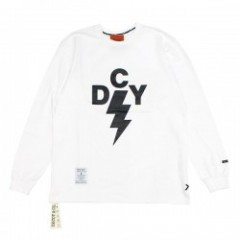 "DECOY&CO. L/STシャツ ""THUNDER DCY LONG TEE"" (White)"