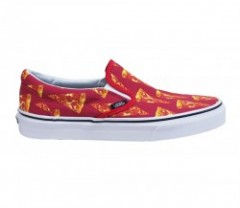 "VANS ""CLASSIC SLIP-ON"" (LATE NIGHT) Mars Red/Pizza"