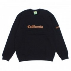 "seedleSs クルースウェット ""CALIFORNIA CREW SWEAT"" (Black)"