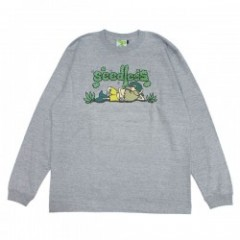 "seedleSs L/S Tシャツ ""CHILLIN TIME L/S TEE"" (H.Gray)"