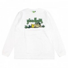 "seedleSs L/S Tシャツ ""CHILLIN TIME L/S TEE"" (White)"